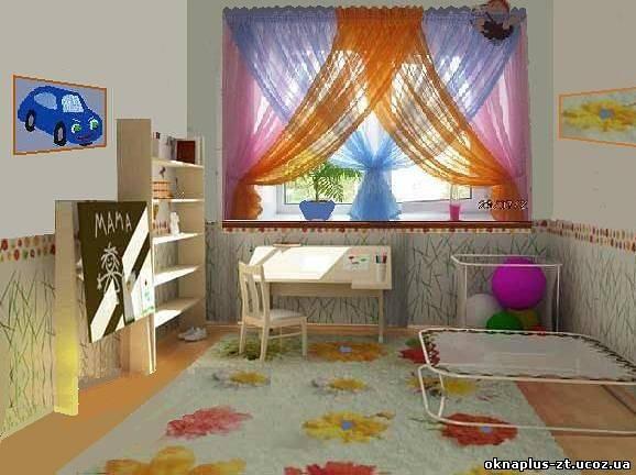 Оформление окна в детской фото